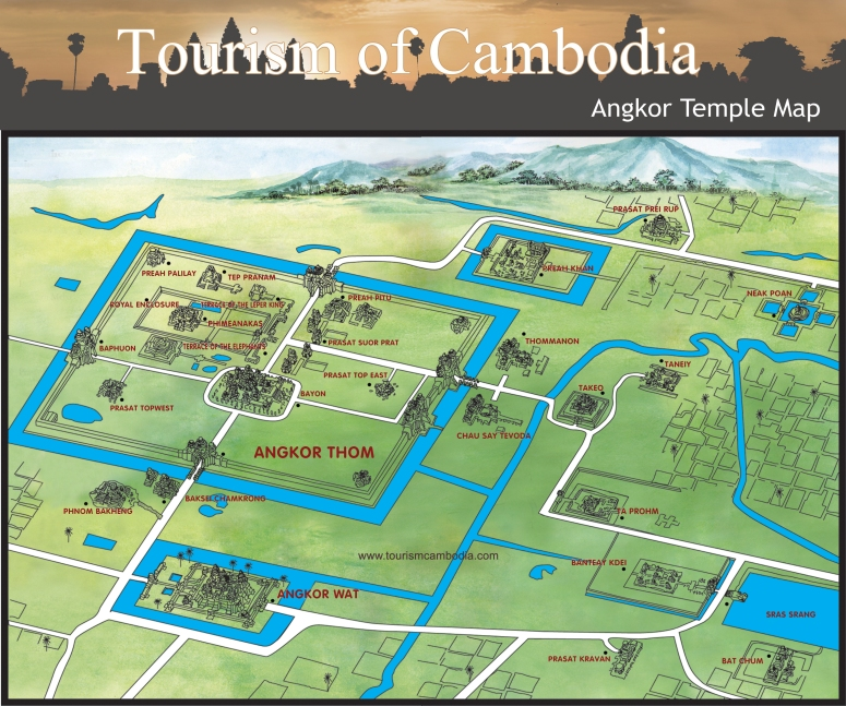Angkor-Temple--Map